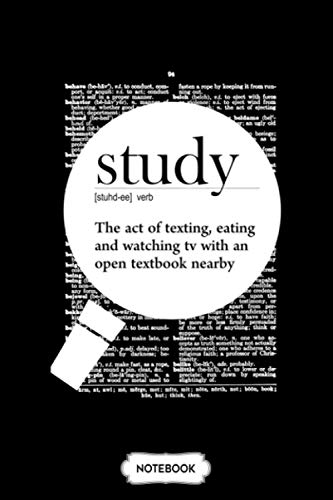 Study Fun Definition Notebook: Matte Finish Cover, 6x9 120 Pages, Lined College Ruled Paper, Diary, Journal, Planner