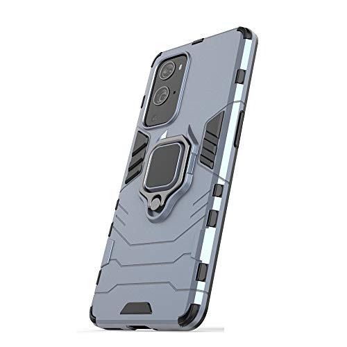 Funda para Samsung Galaxy M62, RonRun Carcasa de PC + TPU Antigolpes Anticaídas Antiarañazos con Anillo Giratorio para Soporte Magnético de Coche, Case Compatible con Samsung Galaxy M62 Azul Marino