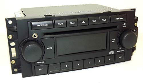 04–10 Chrysler AM FM CD Upgraded mit Aux-Eingang für iPhone Android REF P05091710AE (Renewed)