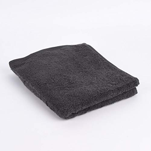 Schöner Lifestyle - Toalla de rizo (100% algodón, 580 g/m², 50 x 100 cm), color gris oscuro