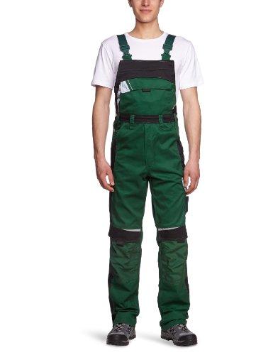 PKA Bestwork New Latzhose mit vielen Taschen und Gummibund(Grün, 46)