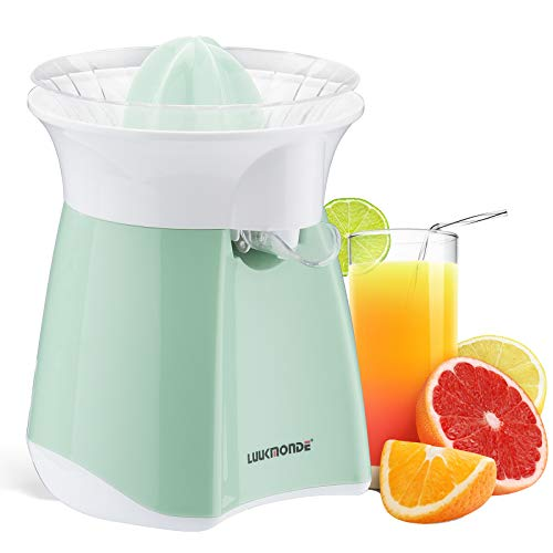 Electric Citrus Juicer with automatic flowing spout - Orange squeezer with professional motor and universal cone - Electric juice extractor for orange lemon lime grapefruit by LUUKMONDE