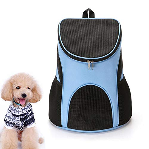 WTTWW Pet bag, go out portable cat bag dog bag pet backpack, mesh breathable pet backpack, available in four colors,Light Blue,L 45X36X31
