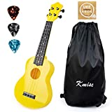 Soprano Ukulele for Beginners Kids Yellow ukulele 21 inch ukelele Birthday Chrismas gift kit with Bag Picks String