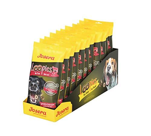 JOSERA Loopies mit Rind, getreidefreie Hundeleckerlis mit wenig Fett, Super Premium Qualität ohne Zucker, 11er Pack (11 x 150 g)