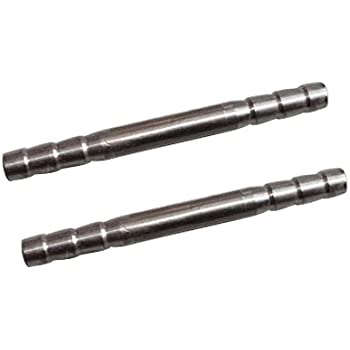 Bulkhead Union 5//16 Barb x 5//16 Barb Metalwork 2 Pcs 304 Stainless Steel Hose Barb Fitting
