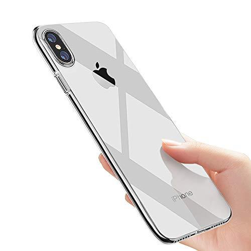Custodia iPhone XS, Cover iPhone X, laxikoo Silicone Cover per iPhone XS/iPhone X Trasparente Protettiva Cover Ultra Sottile Anti-graffio Shock-Absorption TPU Bumper Case per iPhone XS/iPhone X Caso