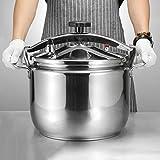 Alimentos acero inoxidable del grado de presión a prueba de explosiones cocina, Caja sopa de olla con varias especificaciones for aumentar la productividad, fácil de limpiar, 15L-50L capacidad de supe