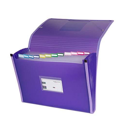 Grafoplás 02963035-Carpeta acordeón, tamaño folio, color violeta