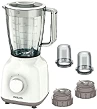 Philips/Blender/400 W/1.5 L Plastic Jar/with 2 sets of mini chopper/5 star serrated blade