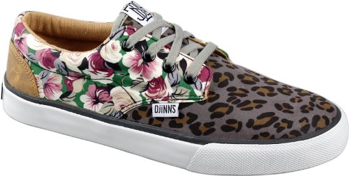 Djinns Schuhe Womens Nice Crazy Pattern Leo Roses, US 10.5 EU 42 UK 8