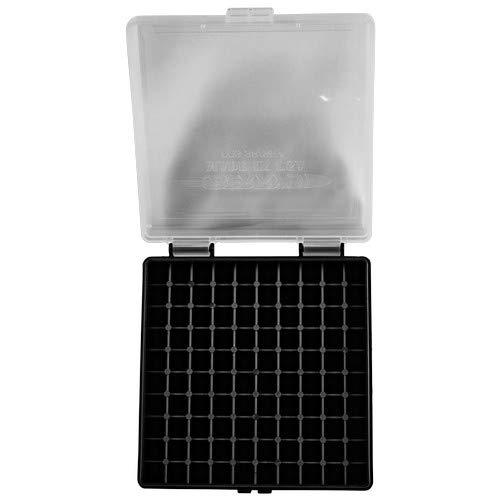 BERRY S Plastic Ammo Box, Clear Black 100 Round 38 357 (1)