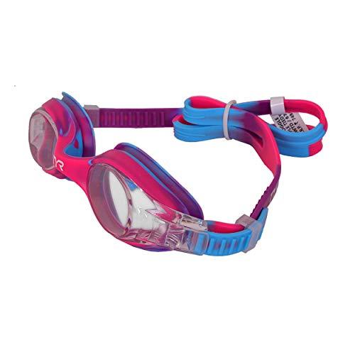 TYR Óculos para jovens Tie Dye Swimple, rosa/azul, tamanho único, para crianças de 3 a 10 anos