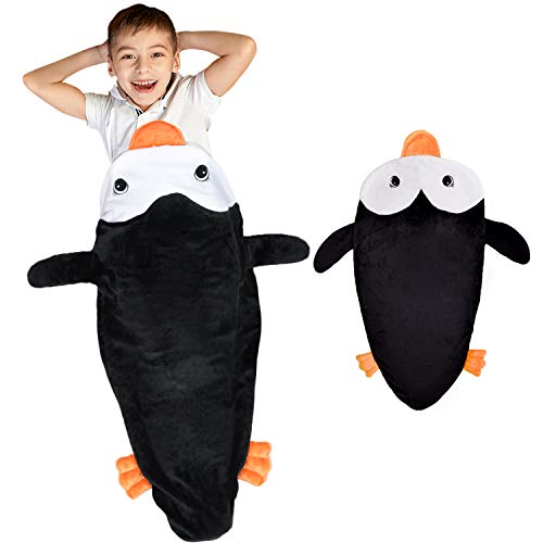 Catalonia Classy Kinder Pinguin Schwänze Decke Plüsch Weiches Kuscheldecke alle Jahreszeiten Kindergartendecke Siesta Schlafsack Fleecedecke zu Hause Outdoor, Kinder Mädchen Junge, 132 x 63cm