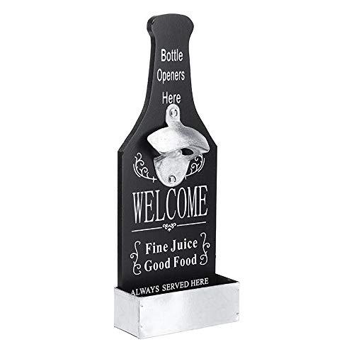 InChengGouFouX Apribottiglie conveniente Beer Bottle Opener con collettore della Capsula Parete Beer Coke Vintage Bar Cucina Birra (Colore : Bianca, Size : 11.5x30cm)