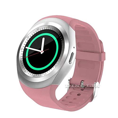 Lovearn Smart Watch Y1 Bluetooth Smartwatch Touchscreen Handyuhr mit SIM & TF Card Slot, Schrittzähler, Schlaf Moniter, SMS, Sitzende Erinnerung für IOS iPhone, Samsung, Smartphone (pink)