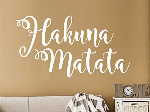 Spruch Wandtattoo Hakuna Matata Wohnzimmer Schlafzimmer Aufkleber