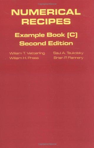 Numerical Recipes in C book set: Numerical Recipes: Example Book C (The Art of Scientific Computing)