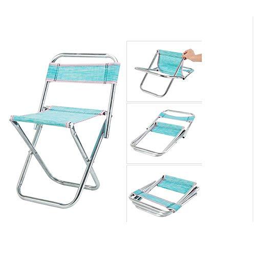 XUXUWA sillas de comedor silla de pesca taburete de acero inoxidable plegable al aire libre portátil silla de pesca silla taburete para camping y ocio pequeño taburete