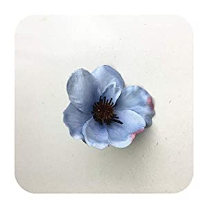 Hopereo 15Colors 7Cm Artificial Silk Poppy Flower Heads for DIY Wedding Decoration Hairpin Wreath Accessories Festival Supplier-8-25 Pieces