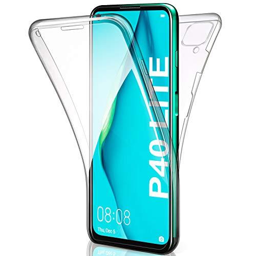 AROYI Funda Huawei P40 Lite Transparente,Silicona Doble Cara Carcasa 360°Full Body Protección,Anti-Arañazos Suave Case para Huawei P40 Lite