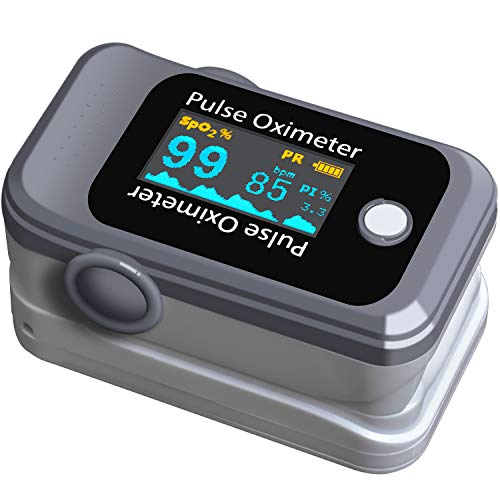 Dark Lightning Pulse Oximeter Fingertip,Digital Blood Oxygen Saturation Monitor for Pulse Rate and SpO2 Level, LED Display Oximeter & Heart Rate Monitor