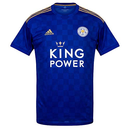 adidas 2019-2020 Leicester City Home Football Soccer T-Shirt Camiseta