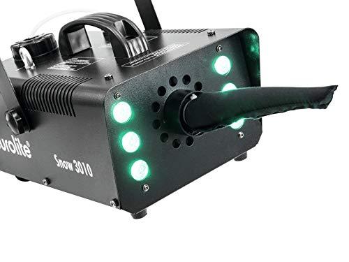 Eurolite Snow 3010 LED Hybrid Schneemaschine | Kraftvolle kleine LED-Hybrid-Schneemaschine |