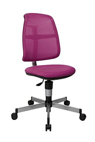 Topstar PEP, mitwachsender Kinder- und Jugenddrehstuhl, Schreibtischstuhl für Kinder, 50 x 44 x 105, Netzstoff & Bezug violett