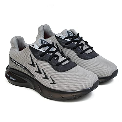 ASIAN Crystal-04 Navy Running Shoes for Men I Sport Shoes for Boys with Transparent Sole Technology | Crystal Look Cushion eva Midsole for Extra Jump I Memory Foam Insole