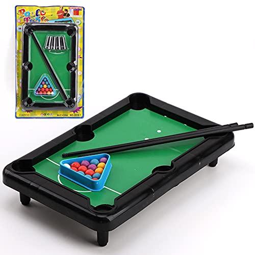 CHGNYLL Billardtisch,Mini-Billardtisch-Spielzeug,Mini-Snooker-Spielset,Spieltisch-Top-Billard-Snooker-Familien-Spaß-Spiel,Mini-Billardtisch-Set Für Kinder Und Erwachsene