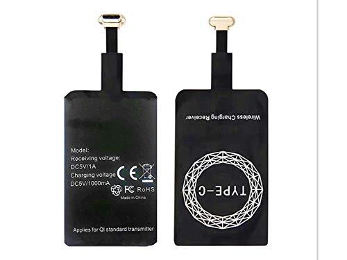 AISHEMI Adaptador de receptor de carga inalámbrico con tecnología de microchip inteligente rápida para Samsung LG, Huawei, Sony, Motorola Xiaomi Alcatel Todos los dispositivos Android USB Tipo-C