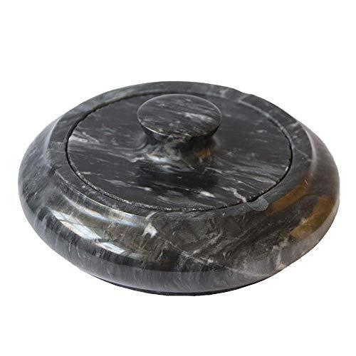 NALIDO Natürlicher Marmoraschenbecher, einfacher Wohnzimmer-Couchtisch Natürlicher Marmoraschenbecher mit Deckel (Marmor)
