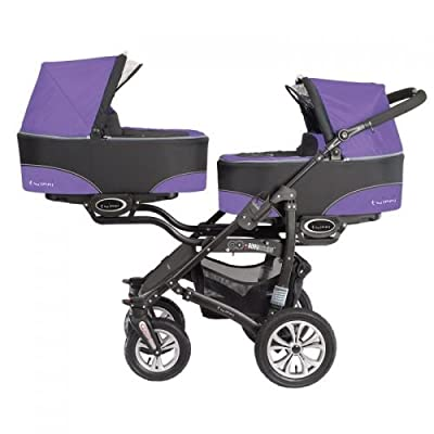 'Baby Active twinni Zwilling cochecito Carrito Zwilling Buggy morado Nr.05 Ultraviolet