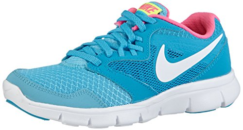 Nike Nike Nike flex experience 3 (gs), 653698 Mädchen Laufschuhe, Blau (Clearwater/white-bl lgn-pnk pw 400), 36 EU