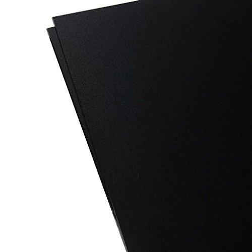 Plastics 2000 - KYDEX Sheet - 0.080 Thick, Black, 8 x 12, 2 Pack