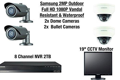 Samsung 4 cámara al aire libre resistente al vandalismo y resistente al agua 2 cúpula y...