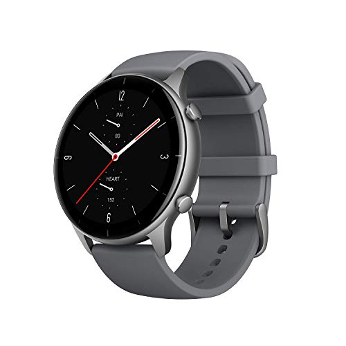 Amazfit GTR 2e Smartwatch with 24H Heart Rate Monitor, Sleep, Stress and SpO2 Monitor, Activity Tracker Sports Watch with 90 Sports Modes, 24 Day Battery Life, Slate Grey