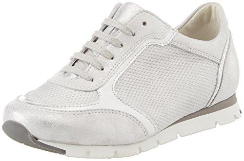 Semler Damen Rosa R5233 Sneaker, Weiß (Weiss-Silber), 44 EU
