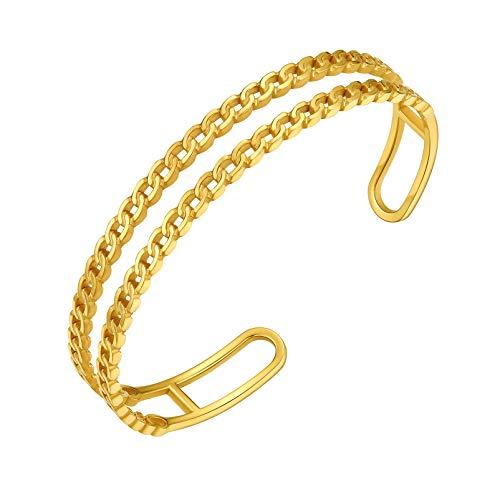 PROSTEEL Gold Bangles Bracelets for Women Wrist Cuffs