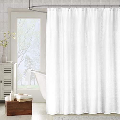 kensie Metallico Sparkle Metallic Shower Curtain, 70x72, White