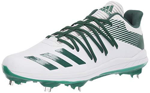 adidas Men's Afterburner 6 Sneaker, FTWR White/Dark Green/Silver Met, 10 M US