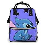 Bolsa de pañales con diseño de estrellas para mamá, multifunción, de gran capacidad, mochila de viaje