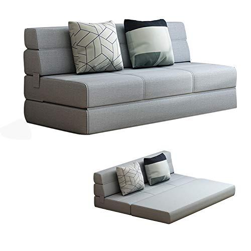 YUYTIN Sofá de Piso Ajustable, sofá Lento Plegable Cama de Cama, sofá de Juego de Pisos con 2 Almohadas para Dormitorio/Sala de Estar/balcón,1.5m