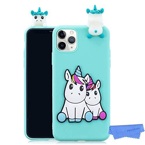 HopMore Divertidas Funda para iPhone 11 Pro MAX(6.5' Silicona Blando Dibujo 3D Panda Animal Carcasa TPU Gel Ultrafina Slim...