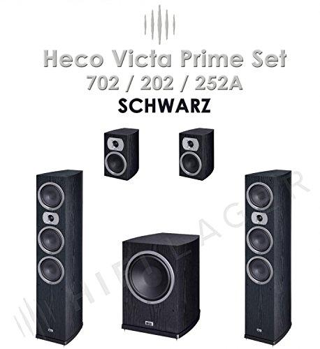Heco Victa Prime 702/202/252A Set, Farbe: schwarz, Serie II, Neu-Ware,