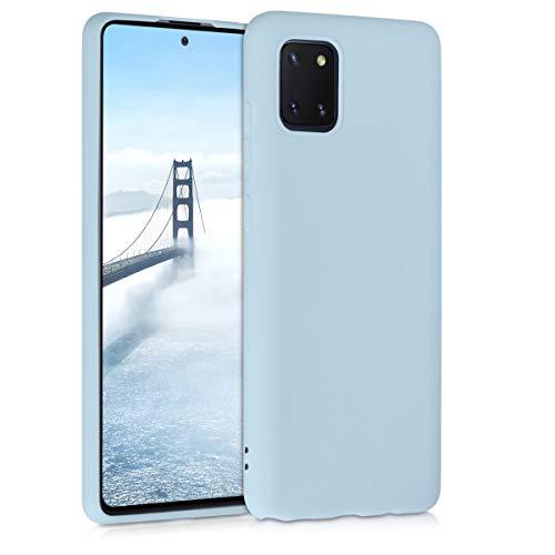 kwmobile Hülle kompatibel mit Samsung Galaxy Note 10 Lite - Hülle Silikon - Soft Handyhülle - Handy Hülle in Hellblau matt