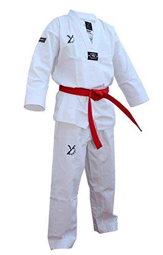 DOBLE Y DESTINY: dobok de taekwondo., blanco, 170