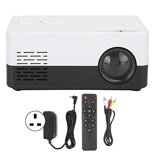 OHHG Caja Pantalla Mini proyector, Proyector Video Alta definición Completa 1080p, Mini proyector HDMI Smart Home Theatre, Proyector Universal Multifuncional LED portátil PS4/Laptops/Phone, Gift