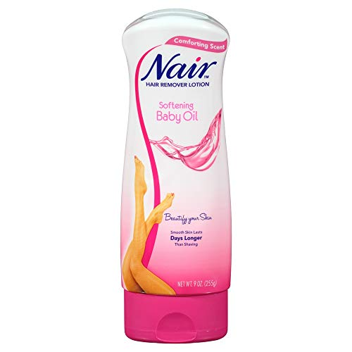 Nair Hair Remover Lotion with Baby Oil, For smooth & Radiant Skin, 9 oz.
